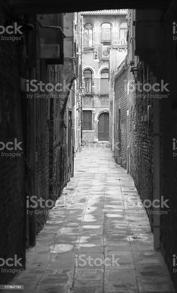 Venetian alley royalty-free stock photo