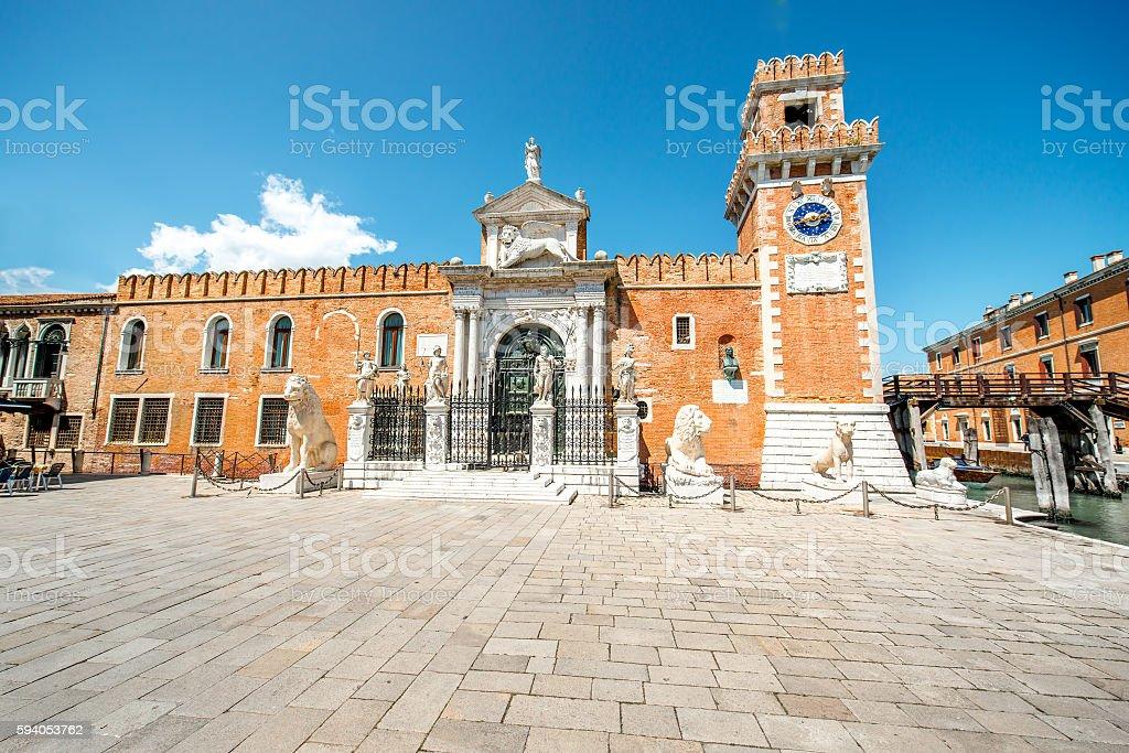 Venetian Arsenal in Venice stock photo