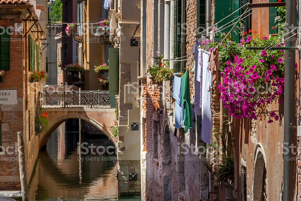 Venetian Backwater stock photo