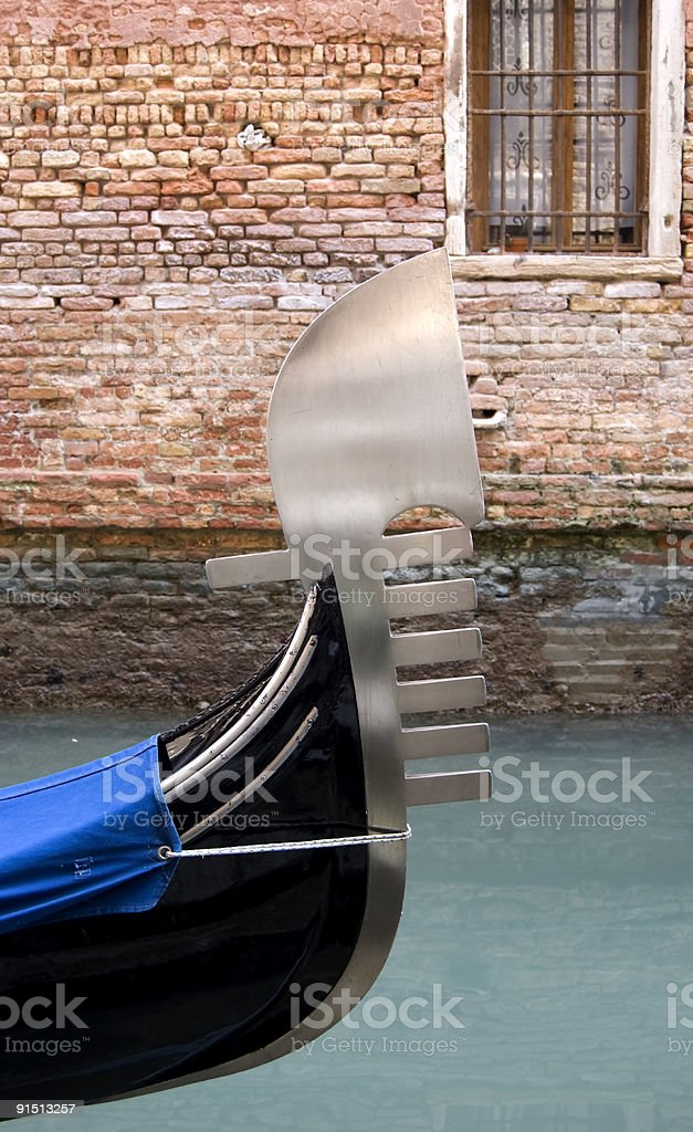 Venetian boat royalty-free stock photo