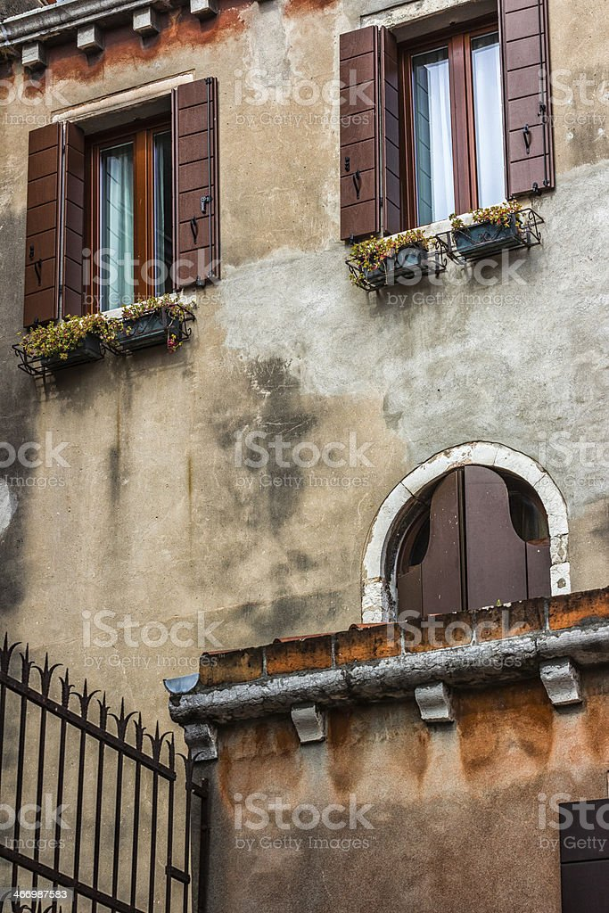 Venetian Building, Italy stock photo