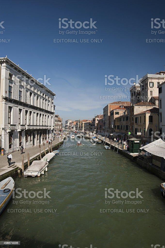 Venetian canal stock photo