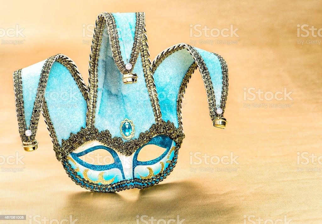 Venetian carnival mask harlequin. Festive decoration stock photo