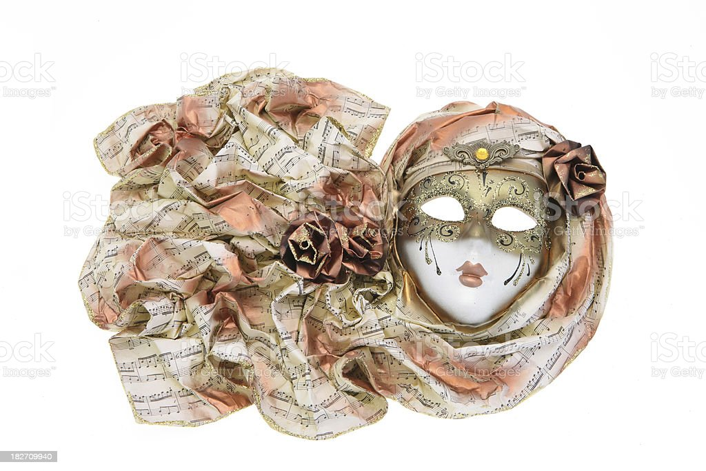 Venetian Carnival mask - isolated on a white background royalty-free stock photo