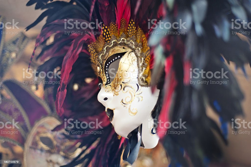 Venetian carnival masks royalty-free stock photo