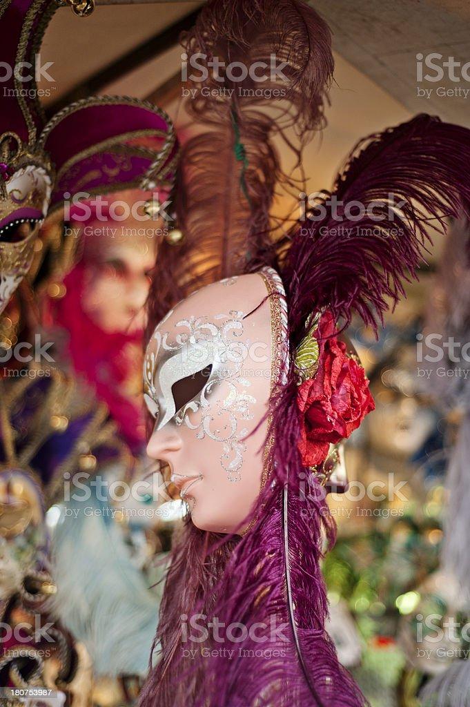 Venetian carnival masks royalty-free stock photo