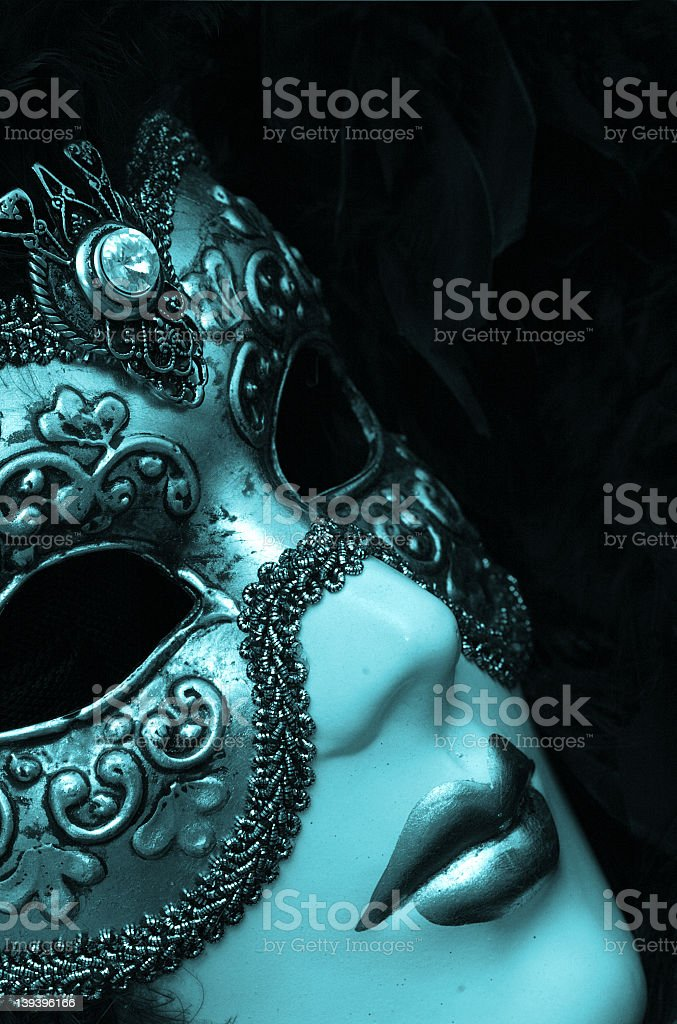 Venetian Carnivale mask on a mannequin royalty-free stock photo