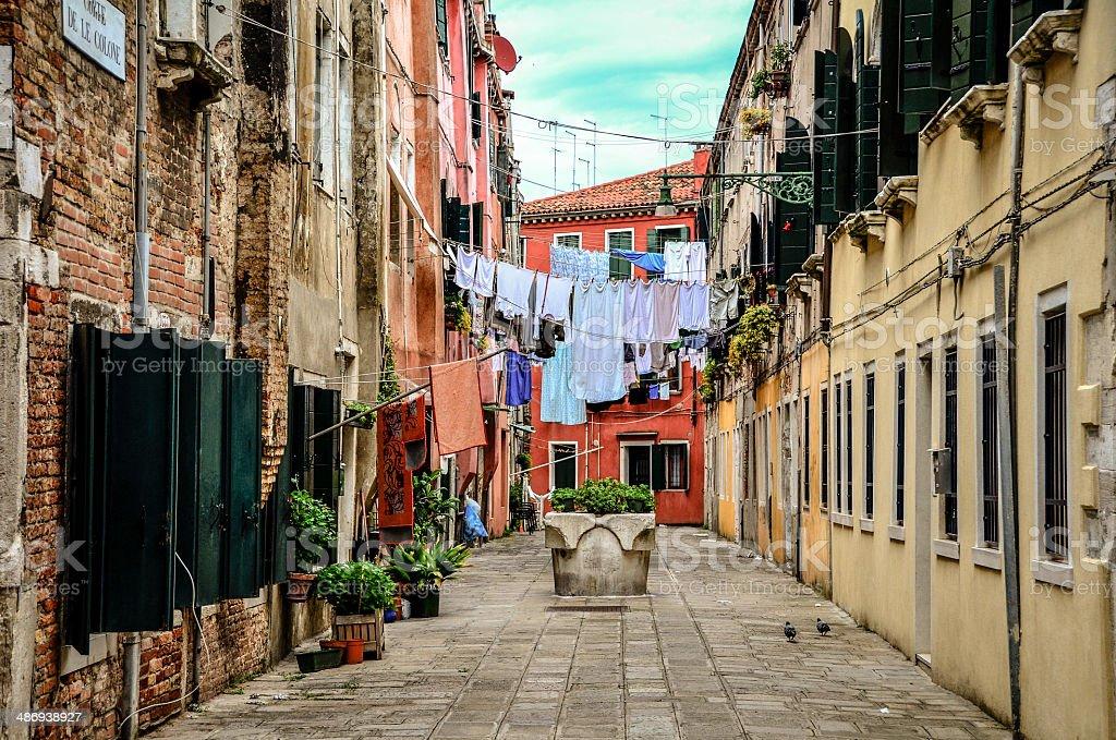 Venetian Clothlines stock photo