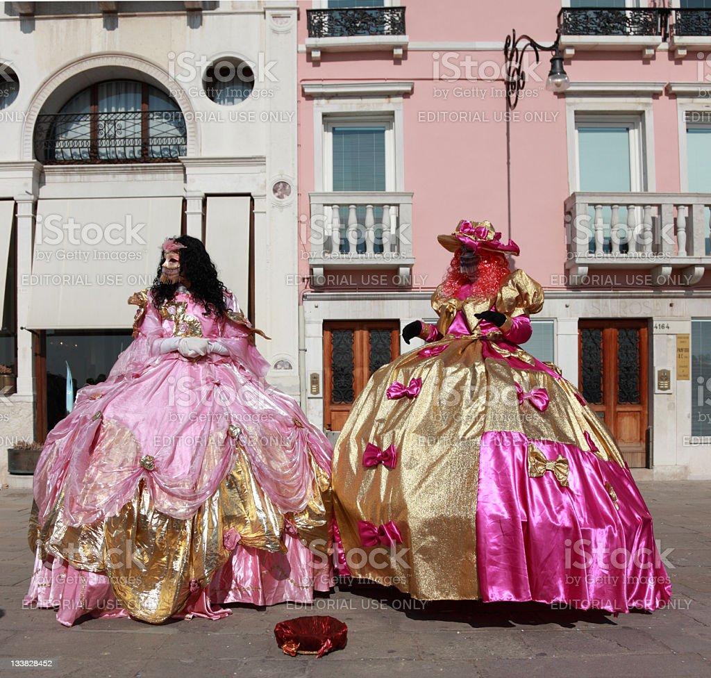 Venetian costumes stock photo
