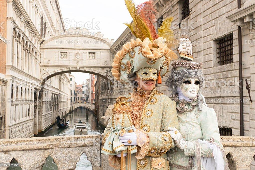 Venetian Couple stock photo