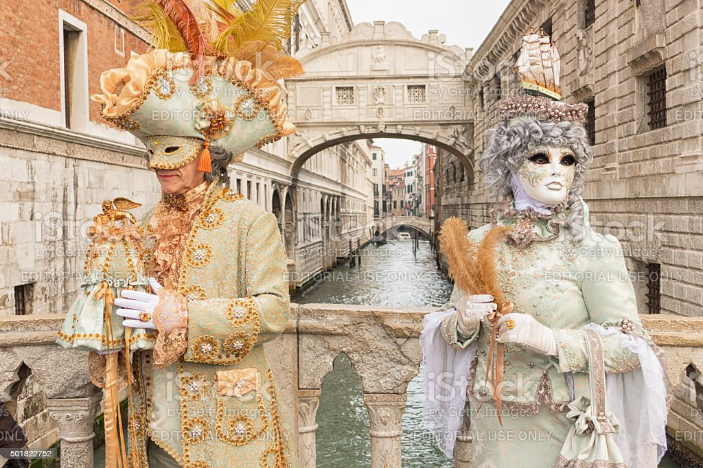 Venetian Couple stock photo