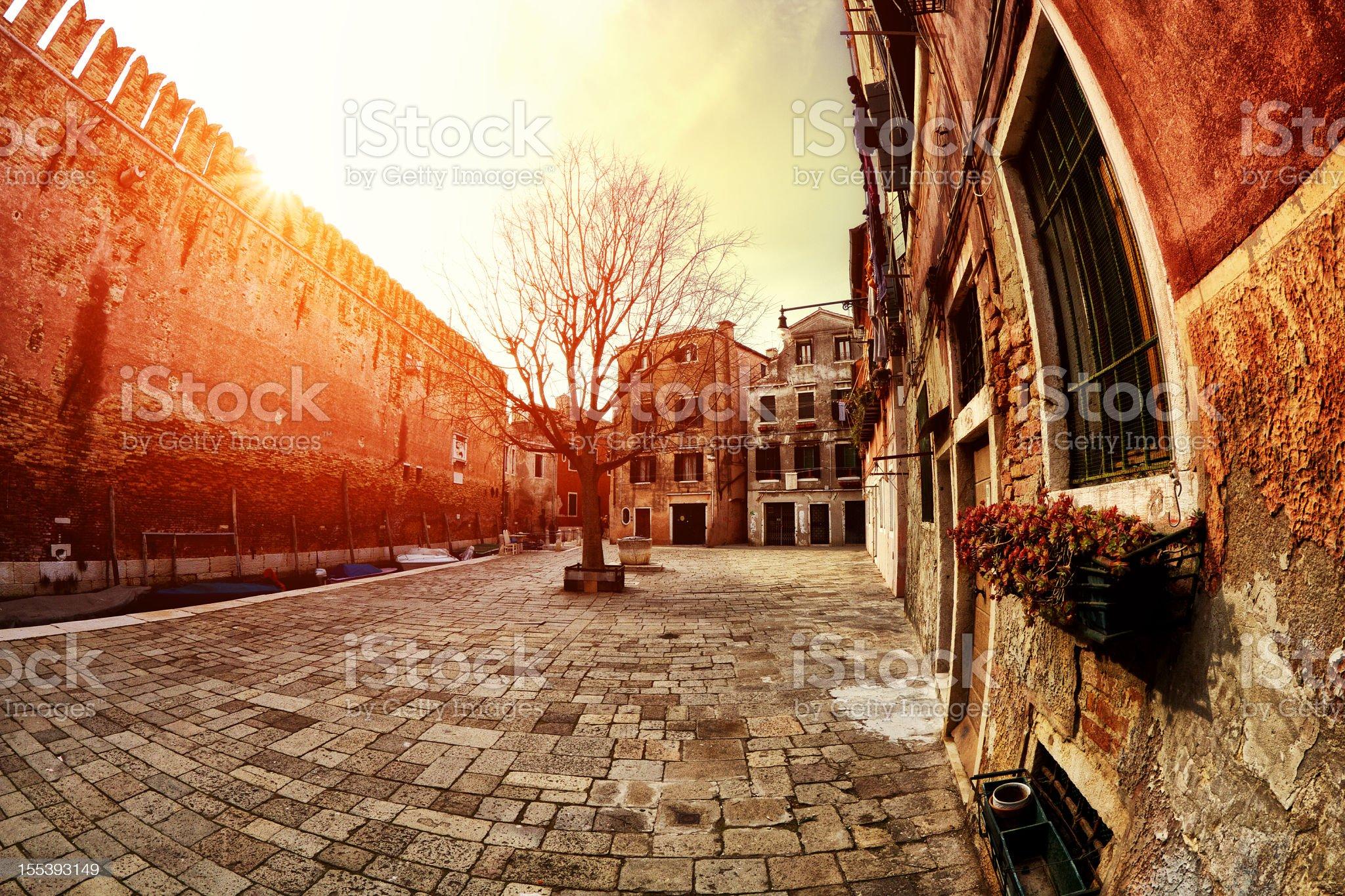 Venetian courtyard royalty-free stock photo