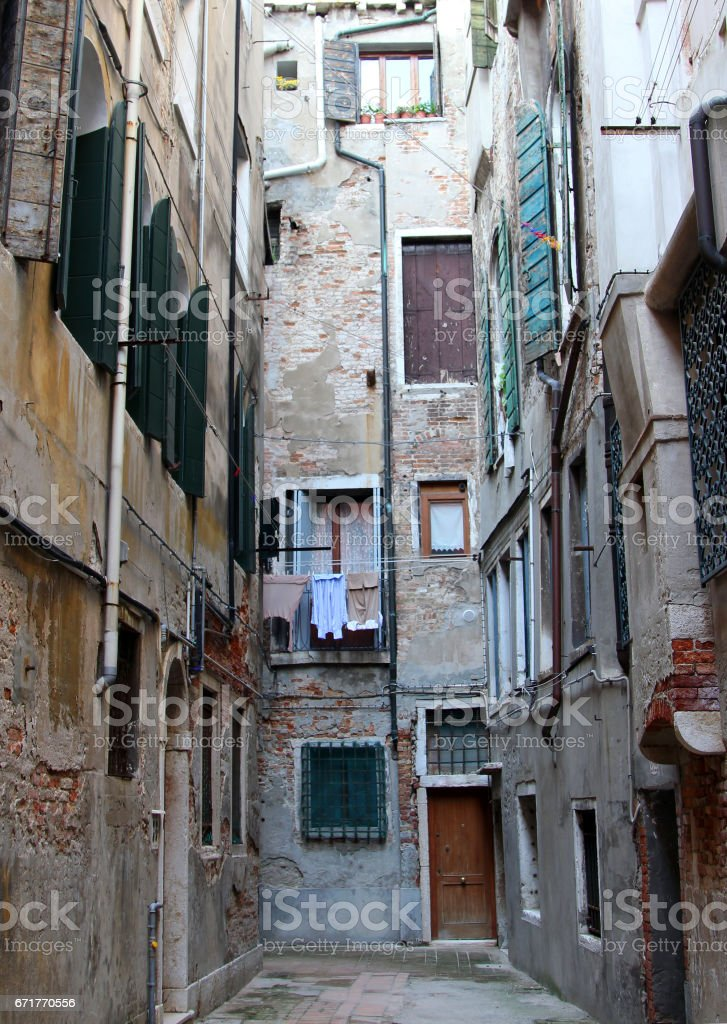 Venetian courtyard stock photo