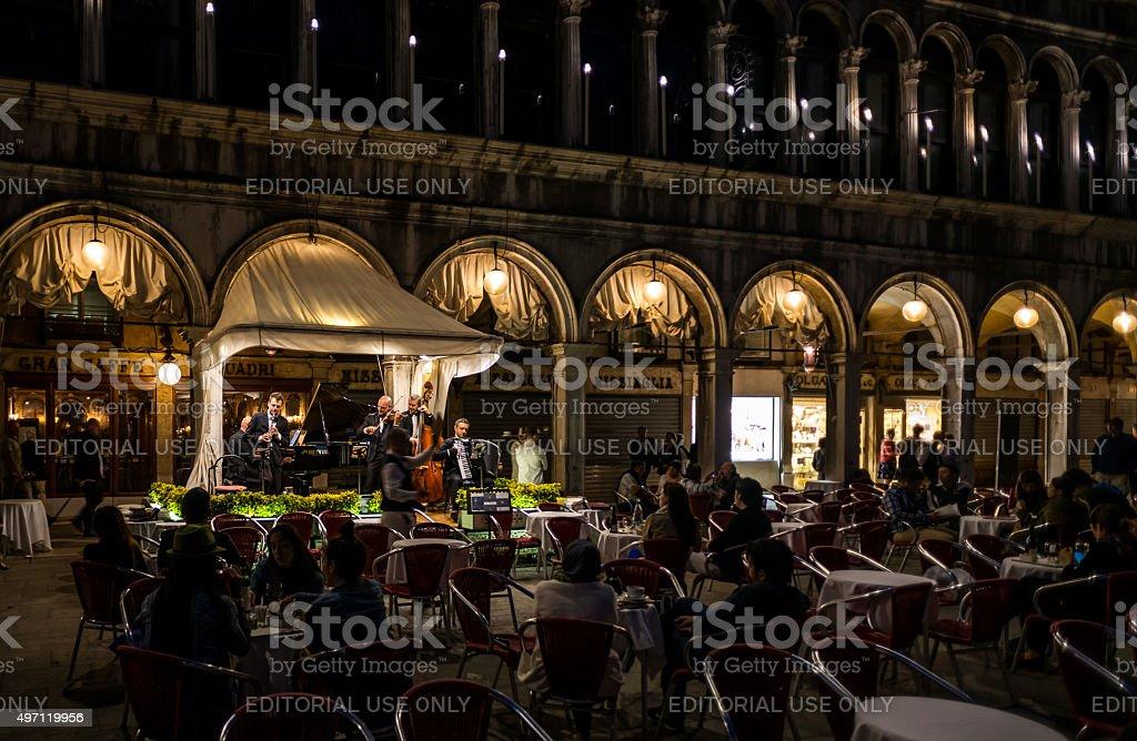 Venetian dining stock photo