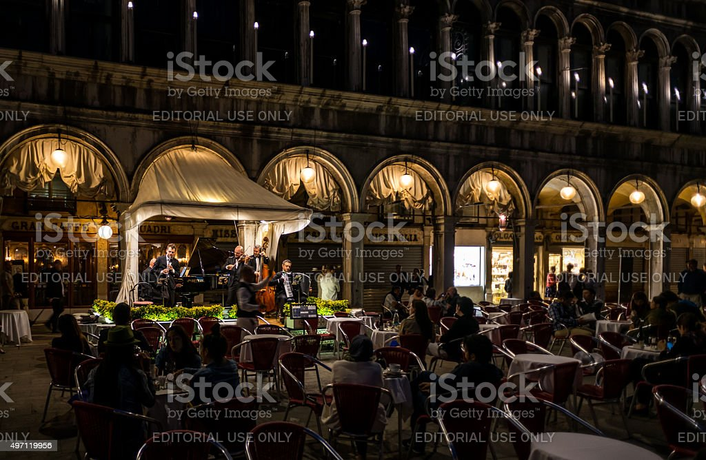 Venetian dining stock photo
