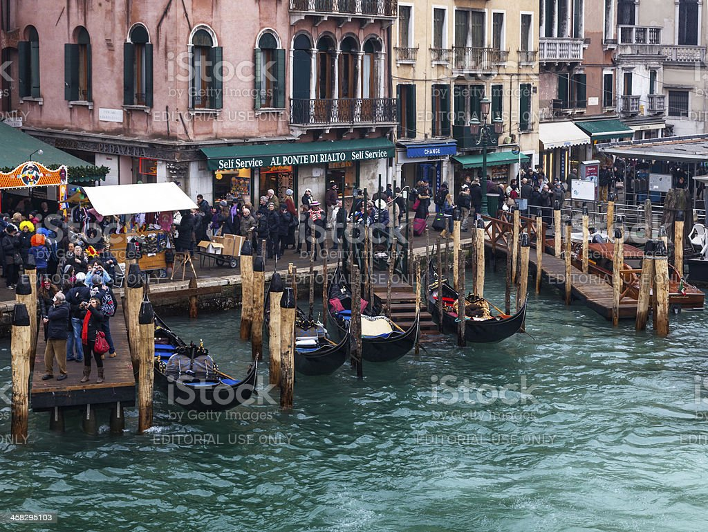 Venetian Dock royalty-free stock photo