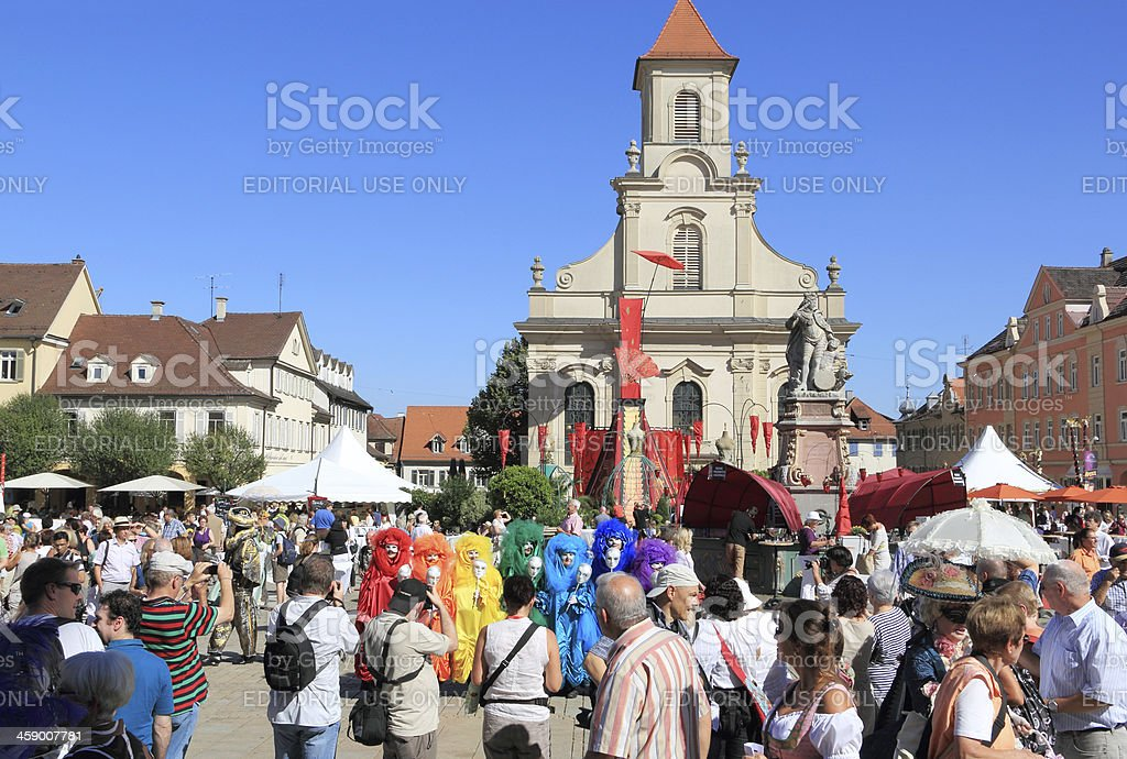 Venetian Fair in Ludwigsburg royalty-free stock photo