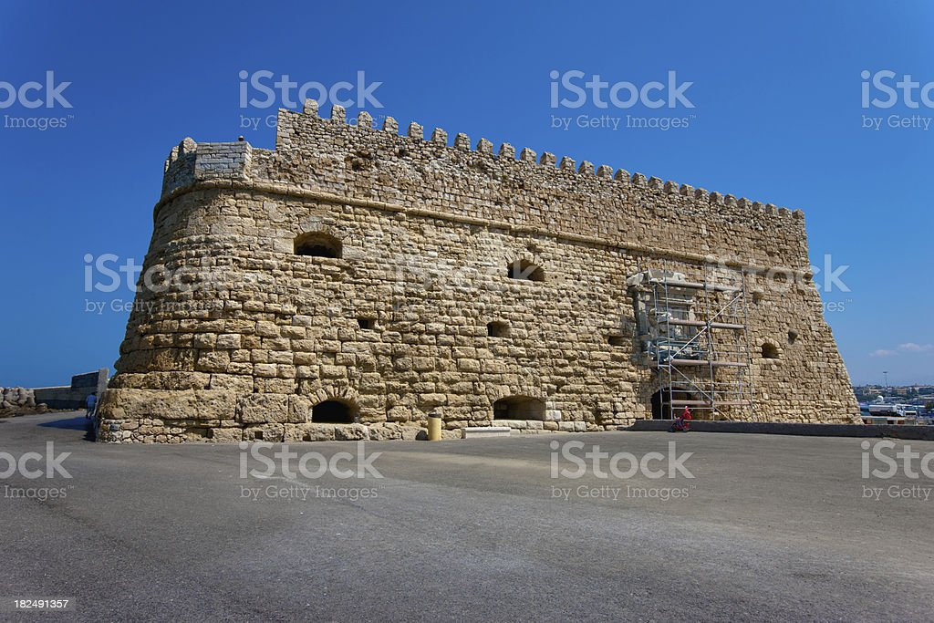 Venetian Fortress Koules Iraklion, Crete, Greece royalty-free stock photo
