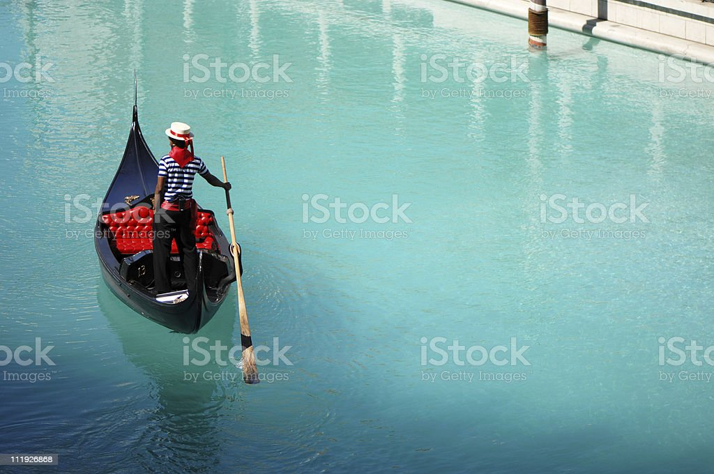 Venetian Gondola at Las Vegas Hotel Tourist Attraction royalty-free stock photo
