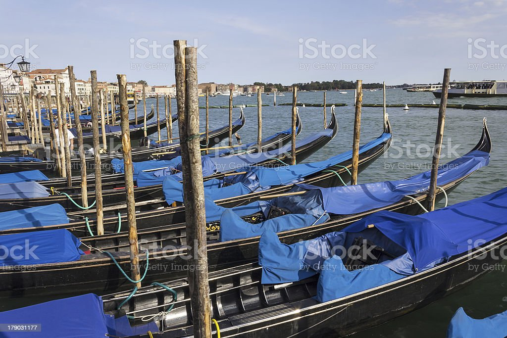 Venetian Gondolas royalty-free stock photo
