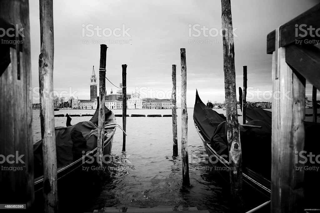 Venetian Gondolas royalty-free stock photo