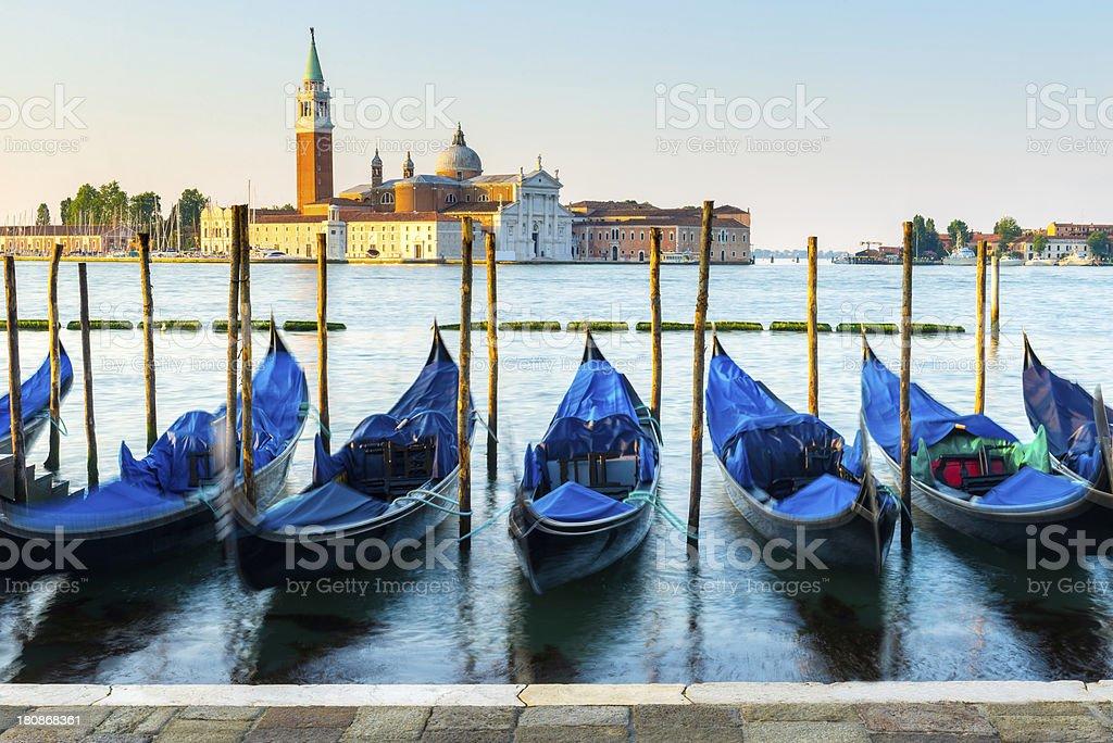Venetian Gondolas, St Mark's Square, Venice royalty-free stock photo