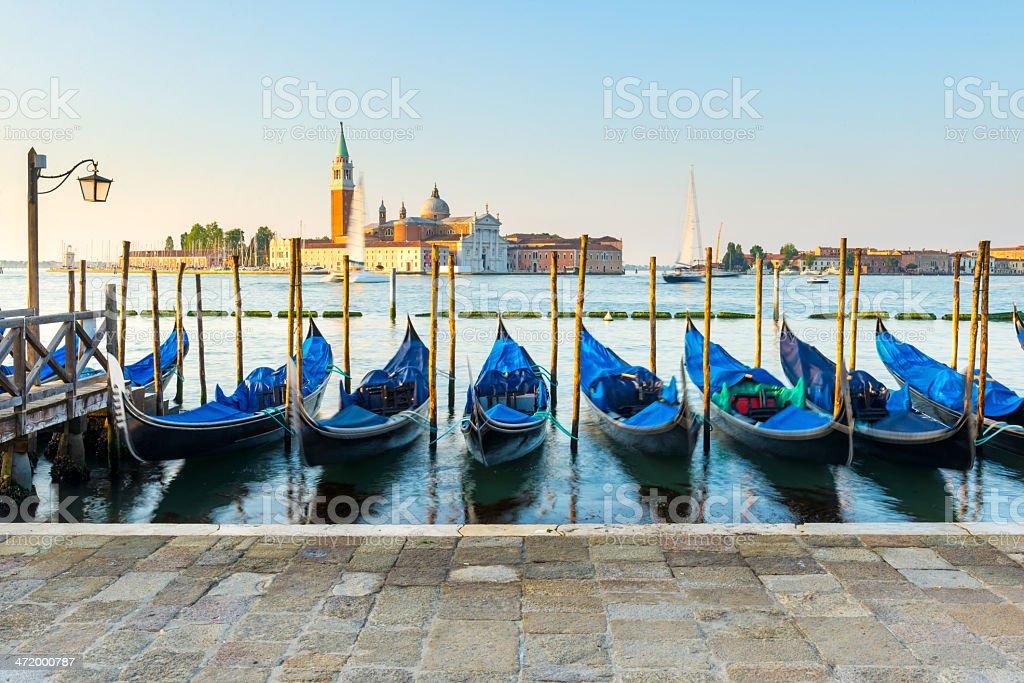 Venetian Gondolas, Venice, Italy stock photo
