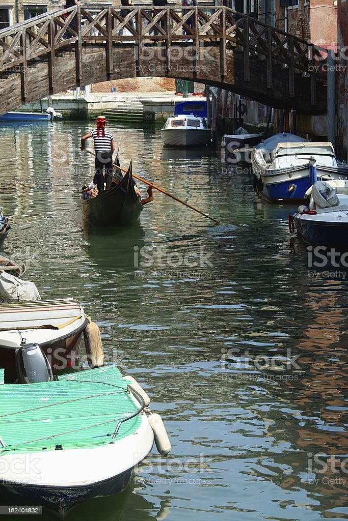 Venetian gondolier royalty-free stock photo