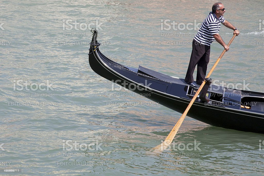 Venetian gondolier royalty-free stock photo