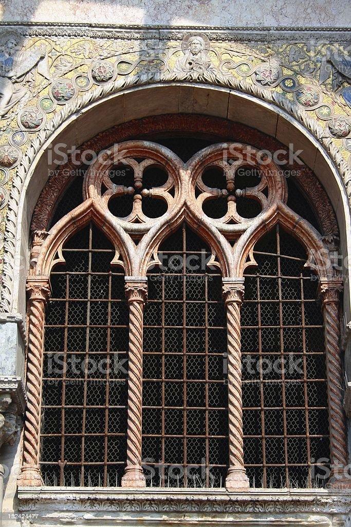 Venetian gothic window royalty-free stock photo
