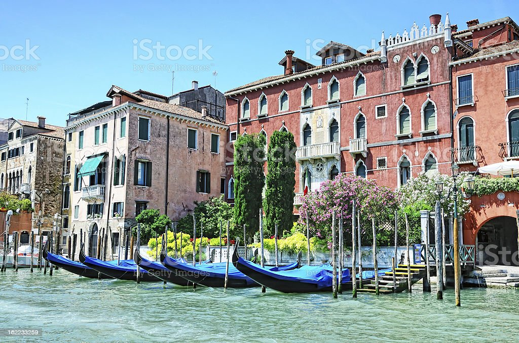 Venetian Grand Canal architecture, Italy royalty-free stock photo
