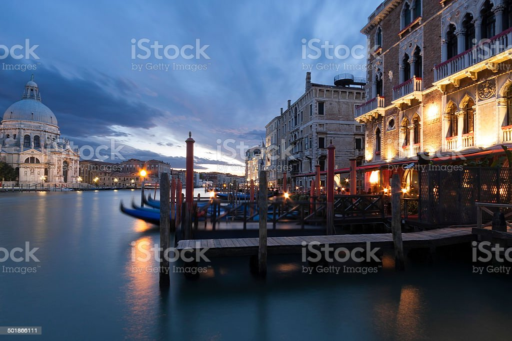 Canal Grande bei Nacht, Venedig Lizenzfreies stock-foto