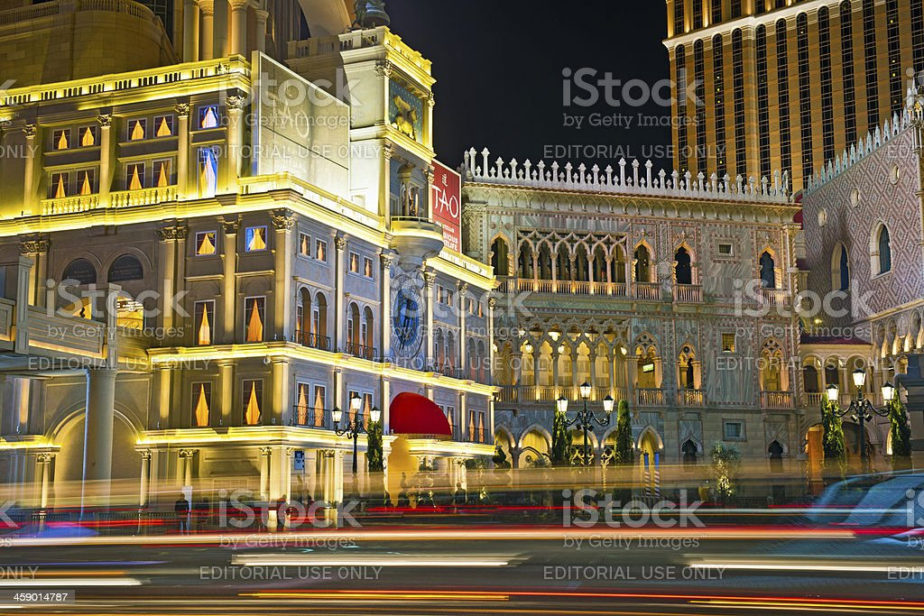Venetian Hotel and Casino with Doges Palace Las Vegas USA royalty-free stock photo