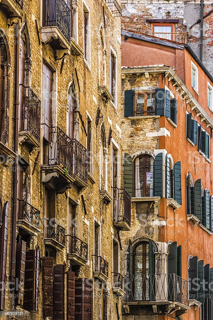 Venetian Houses, Italy stock photo