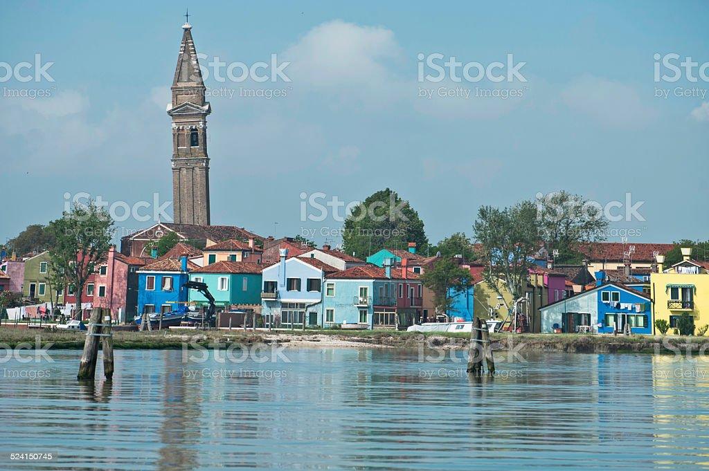 Venetian isle of Burano stock photo