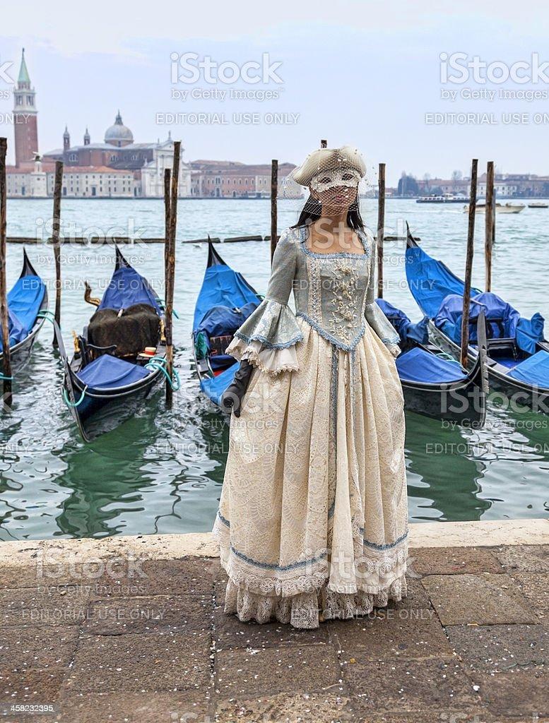 Venetian Lady royalty-free stock photo