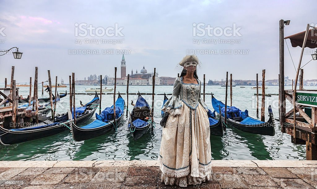 Venetian Lady royalty-free stock photo