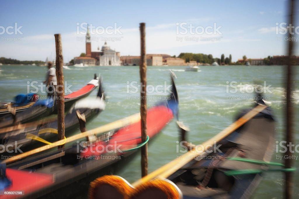 Venetian Lagoon, Motion Blurred. stock photo