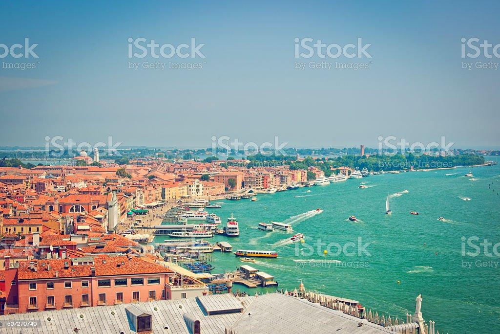 Venetian lagoon stock photo