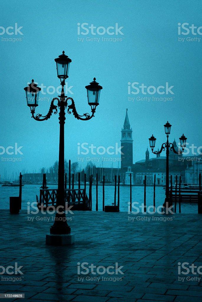 venetian lamposts royalty-free stock photo