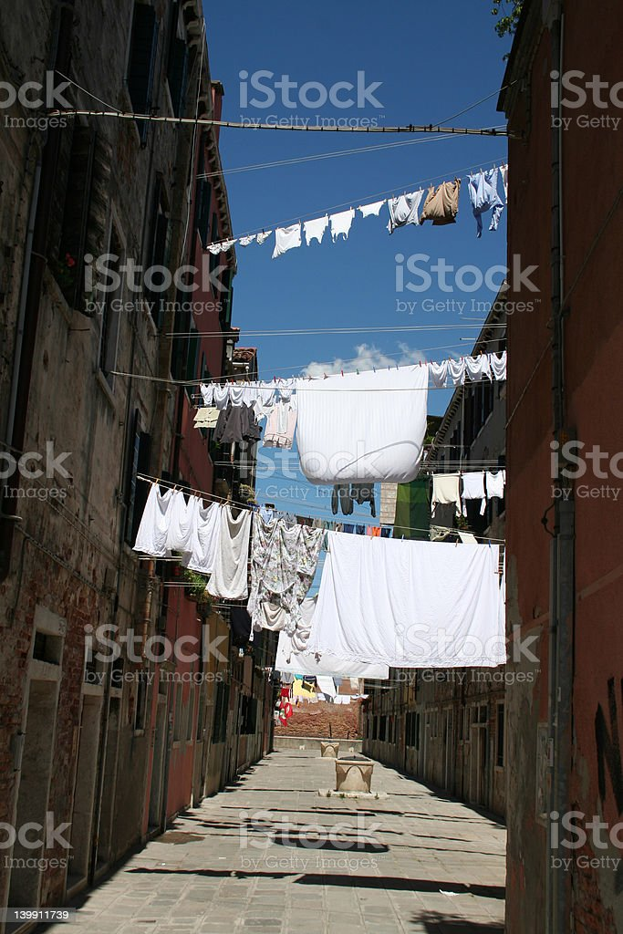 Venetian laundry royalty-free stock photo