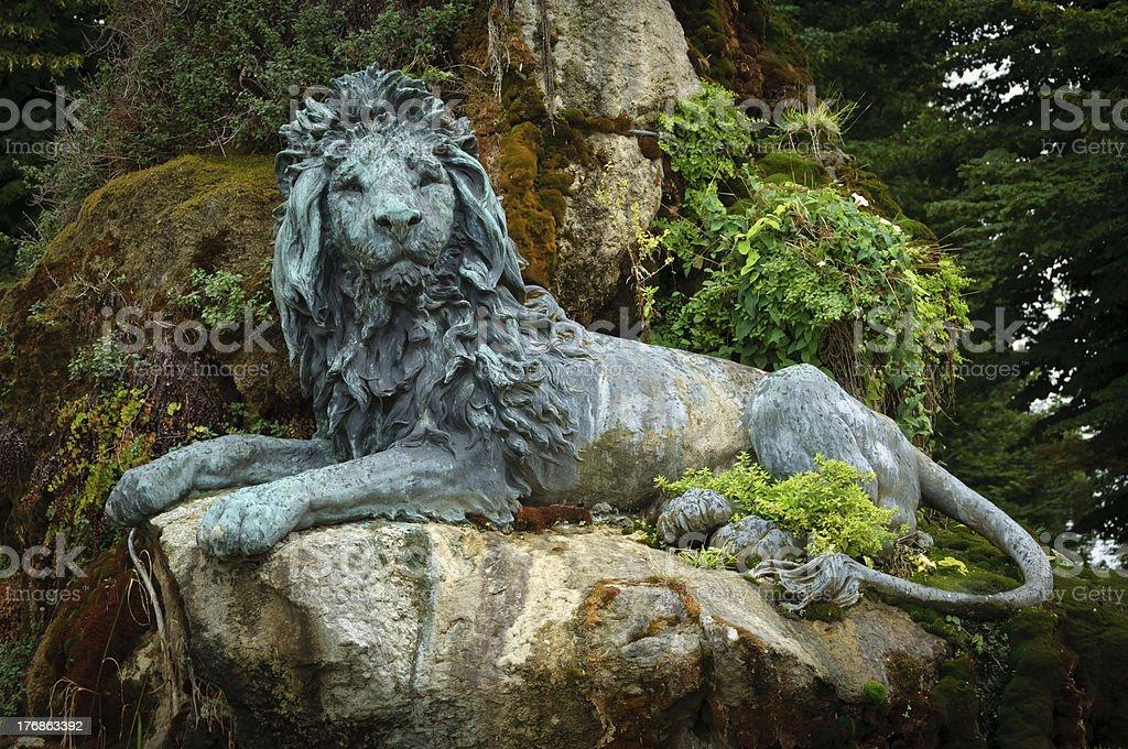 Venetian Lion Bronze Statue royalty-free stock photo