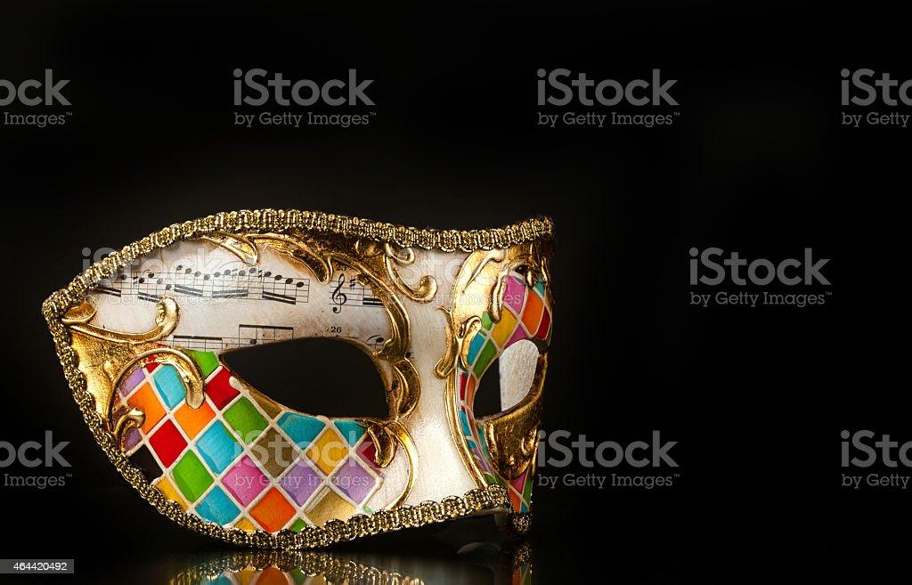 Venetian mask harlequin style stock photo