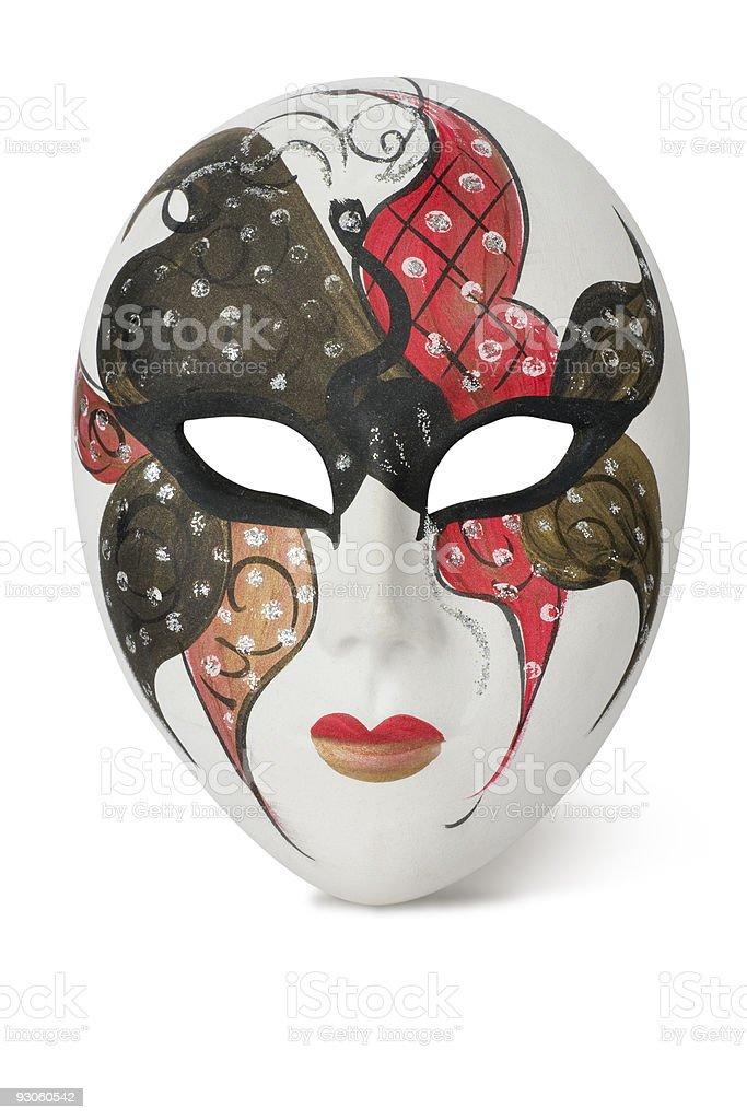 Venetian Mask on white royalty-free stock photo