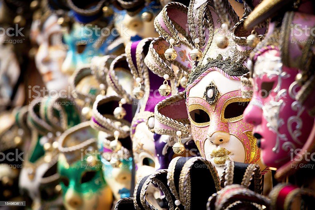 Venetian mask, selective focus royalty-free stock photo