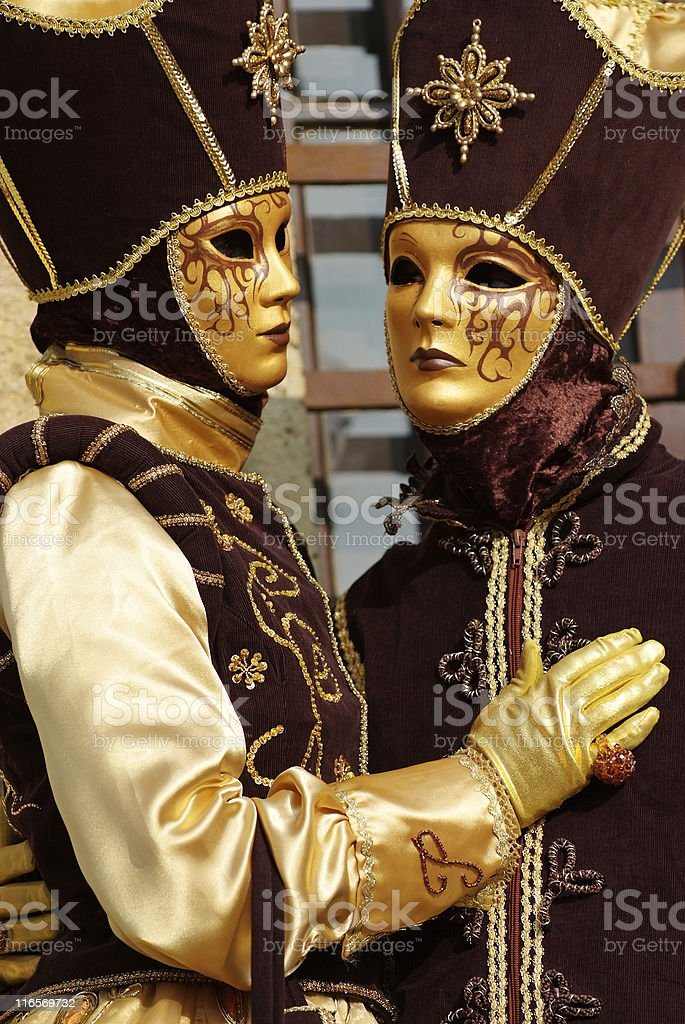 venetian masks and costumes royalty-free stock photo
