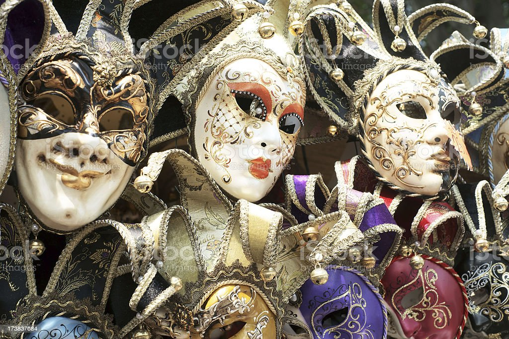 Venetian Masks on display royalty-free stock photo