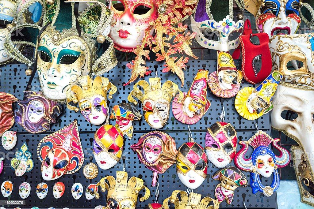 venetian masks on sale stock photo