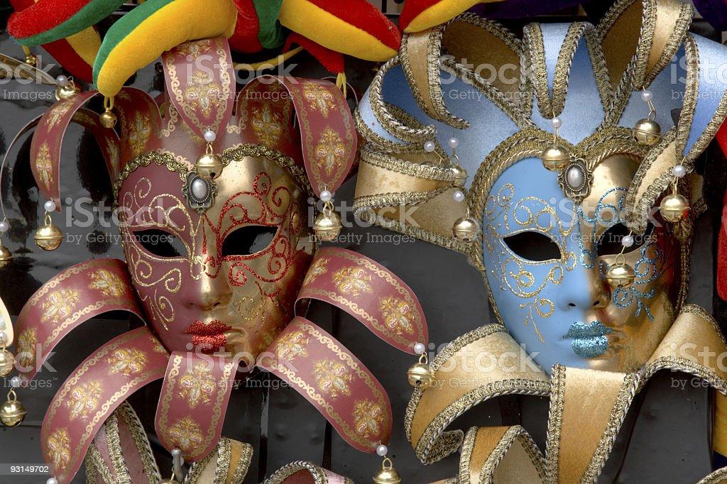 Venetian masks (XXL) royalty-free stock photo