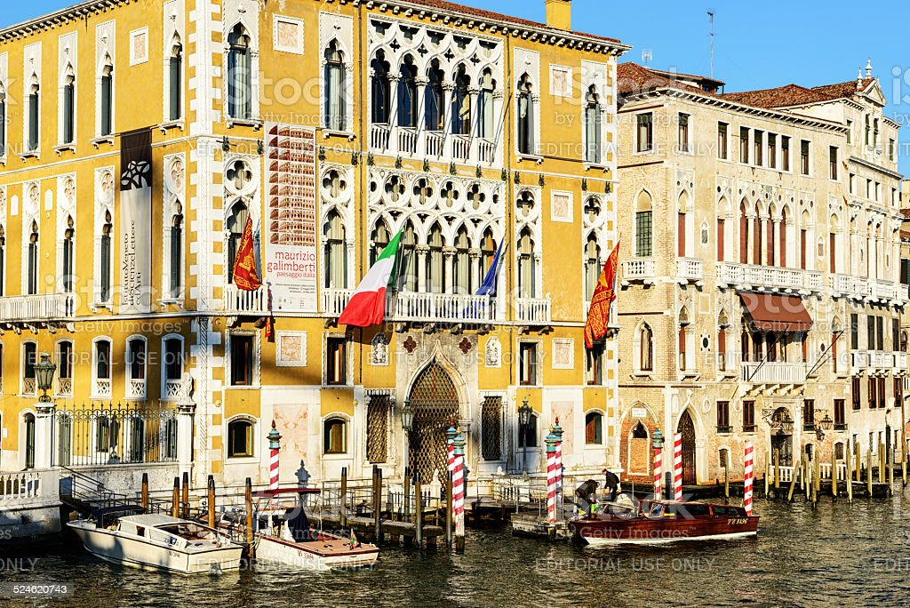 Venetian Palace on the Grand Canal stock photo